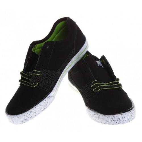 Zapatillas de bebé DC Bristol KB Black White Soft Lime