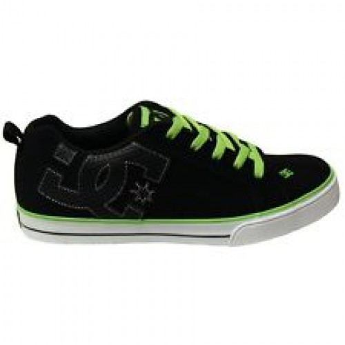 Zapatillas de bebé DC Court Graffik Vulc Black/Soft Lime/Black