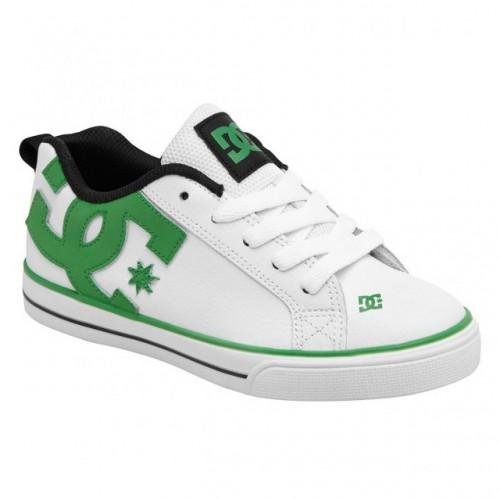 Zapatillas de bebé DC Court Graffik Vulc White/Green 2015-1