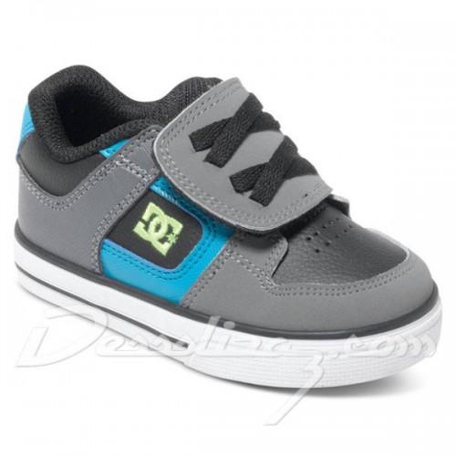 Zapatillas de bebé DC Pure V Black/Armor/Turquoise