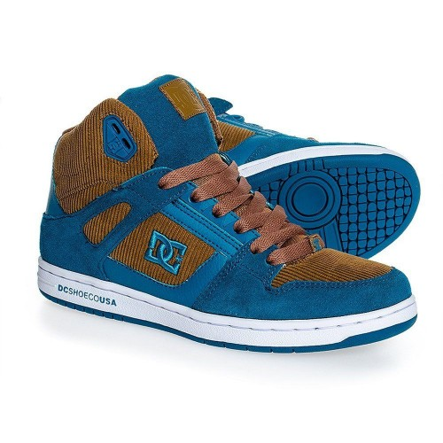Zapatillas DC Rebound High LE Brown/Blue