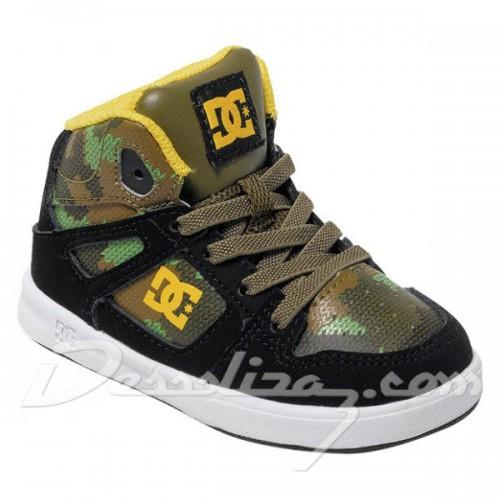 Zapatillas de bebé DC Rebound SE UL Black/Camouflage
