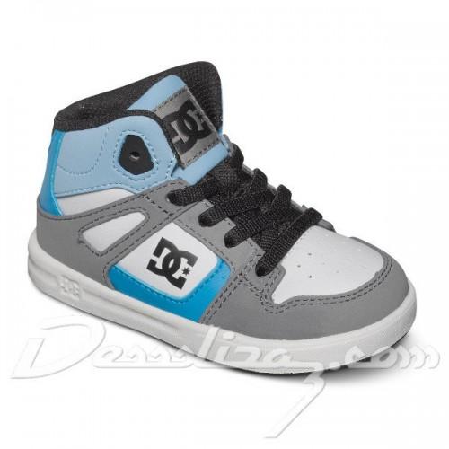 Zapatillas de bebé DC Rebound SE UL Grey/Grey/Blue
