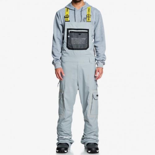 Pantalones de snowboard DC Revival Bib Neutral Gray
