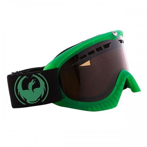 Gafas de snowboard Dragon DXS Transp Matte Green-Jet