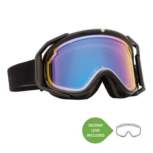 Gafas de snowboard Electric RIG Gloss Black + BL Yellow/Blue Chrome