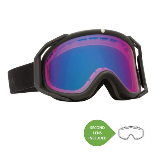 Gafas de snowboard Electric RIG Matte Black + BL Rose/Blue Chrome