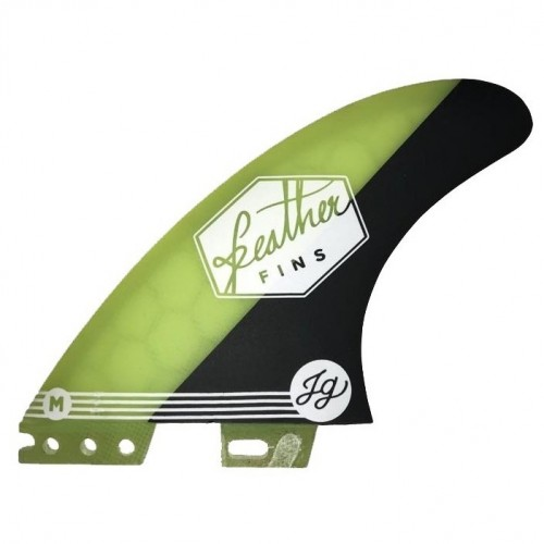 Quilla de surf Feather Fins Athlete S. Click Tab Jonathan Yellow