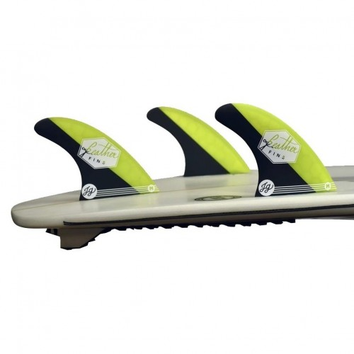 Quilla de surf Feather Fins Athlete S. Dual Tab Jonathan Yellow