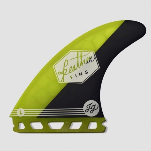 Quilla de surf Feather Fins Athlete S. Single Tab Jonathan Yellow