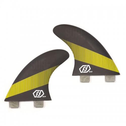 Quilla de surf Feather Fins Quad Rear Ultralight Click Tab Black/Yellow