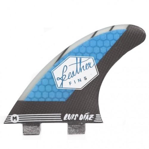 Quilla de surf Feather Fins Sig. Dual Tab Luis Diaz Blue