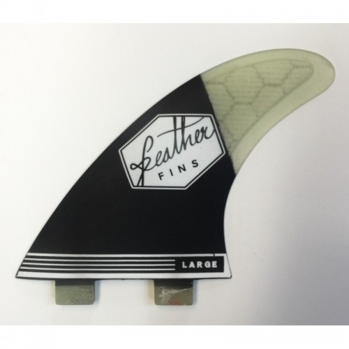 Quilla de surf Feather Fins Ultralight Dual Tab F2 Black
