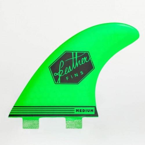 Quilla de surf Feather Fins Ultralight Dual Tab Green