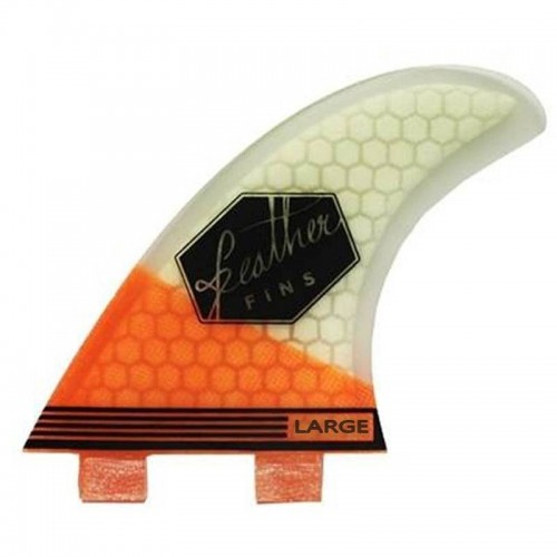 Feather Fins Ultralight Dual Tab Orange/White