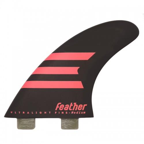 Quilla de surf Feather Fins Ultralight Epoxy HC Click Tab Black/Pink
