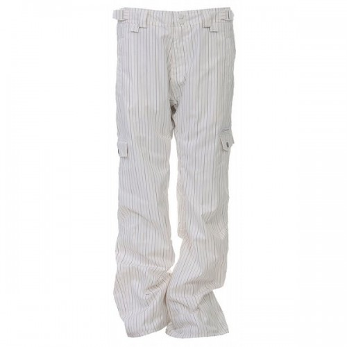 Pantalones de snowboard Foursquare S5 Wong Pants White Multicolor