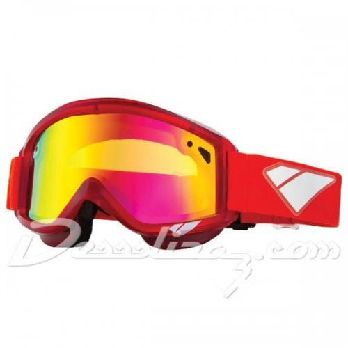 Gafas de snowboard Is Eyewear Staple Crystal Red-Gold Mirror Rose