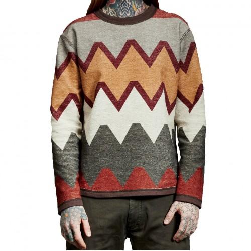 Jersey Makia Native Reversible Sweatshirt Brown