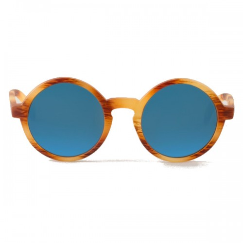 Gafas de sol Mr Boho Dalston Matte Havana Dark Blue Lenses