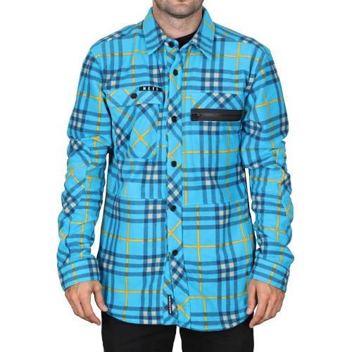 Camisa Neff Engine Flannel Cyan