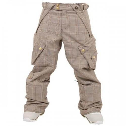 Pantalones de snowboard Nikita Treerun Khaki Brown Orange