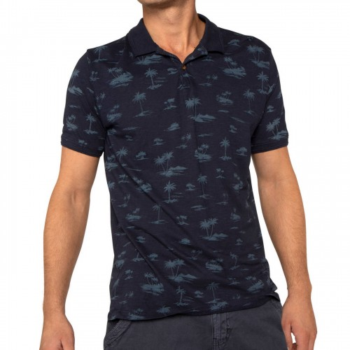 Camiseta Protest Flockton Polo Ground Blue