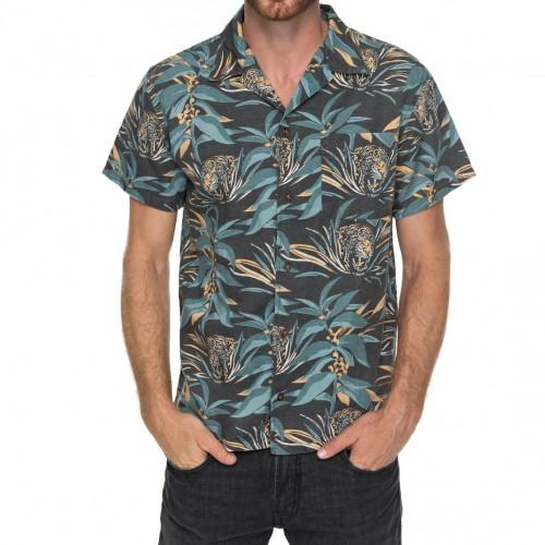 Camisa Quiksilver Aloha Tiger Raven