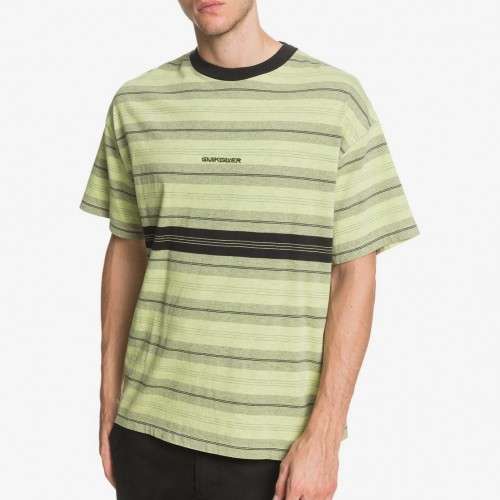Camiseta Quiksilver Back On Tee Green Glow Back On Tee