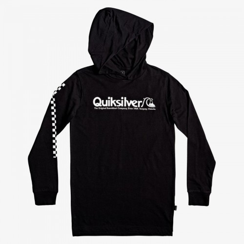 Camiseta Quiksilver Checkers Mate Hoodie Yth Black