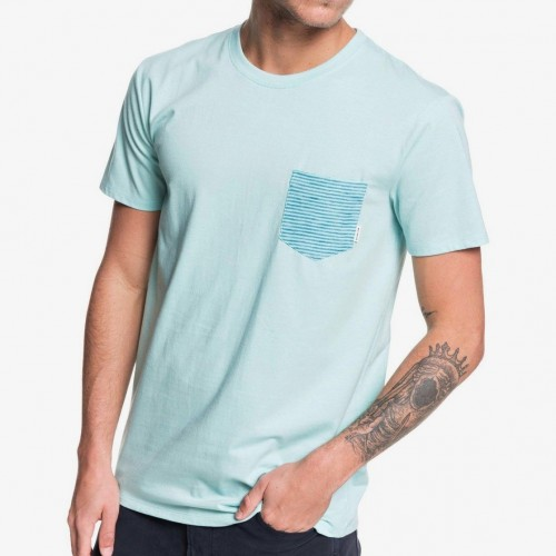 Camiseta Quiksilver Choppy Day Tee Pastel Turquoise Heather