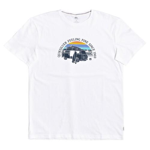 Camiseta Quiksilver Come Sail Away Tee White