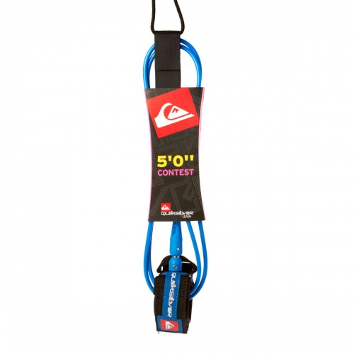 Invento de surf Quiksilver Contest Leash 5.0 Blue