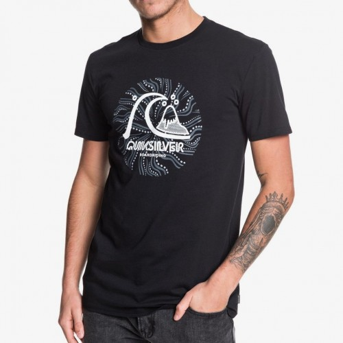 Camiseta Quiksilver Custom Prints Black