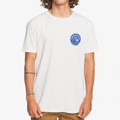 Camiseta Quiksilver Devils Wink Tee Snow White
