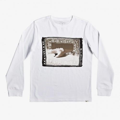 Camiseta Quiksilver Double Threat LS Yth White