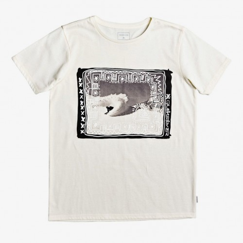 Camiseta Quiksilver Double Threat SS Yth Antique White Heather