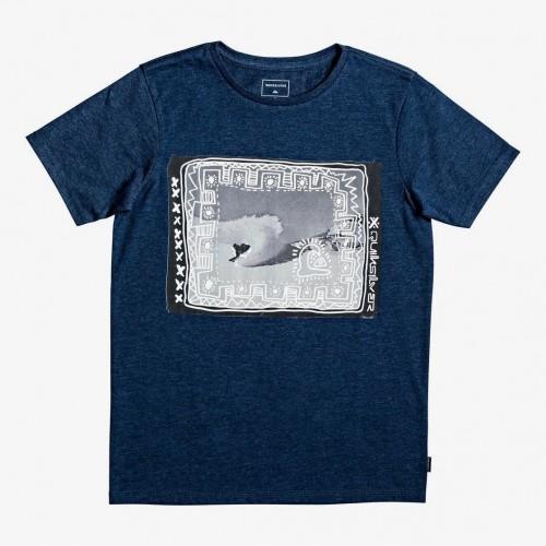 Camiseta Quiksilver Double Threat SS Yth Moonlit Ocean Heather