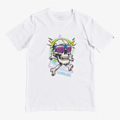 Quiksilver Hell Revival Tee Yth White