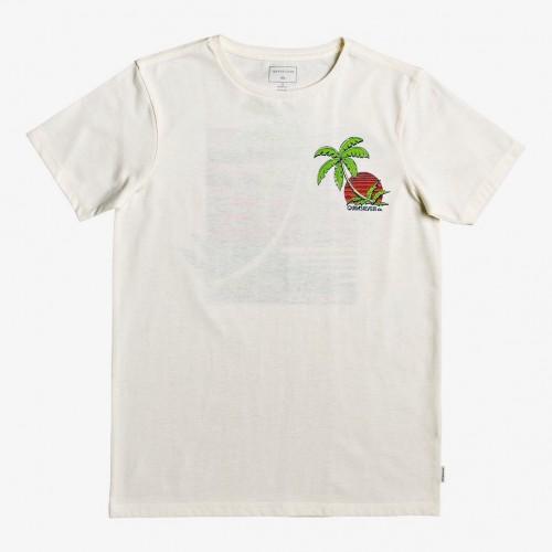 Camiseta Quiksilver In The Jungle Yth Antique White Heather
