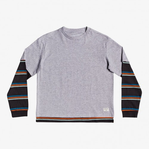 Camiseta Quiksilver Moki Murraw Youth Light Grey Heather