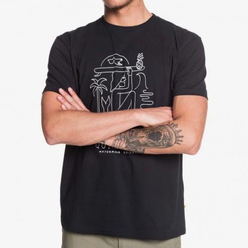 Camiseta Quiksilver Waterman Vibes Alive Black