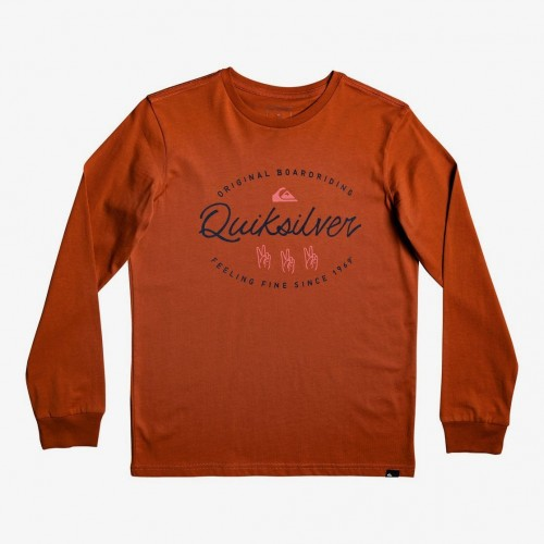 Camiseta Quiksilver Wave Slaves LS Burnt Brick