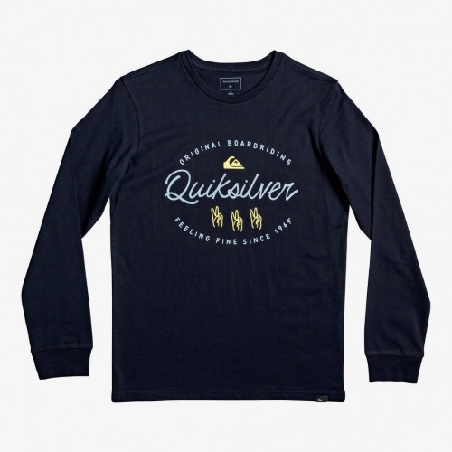 Camiseta Quiksilver Wave Slaves LS Sky Captain