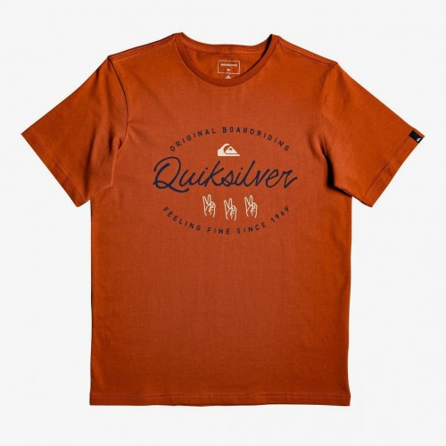 Camiseta Quiksilver Wave Slaves SS Burnt Brick