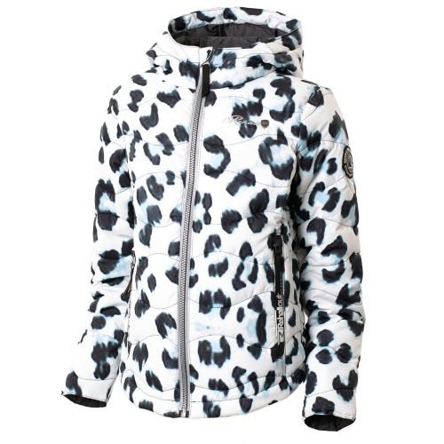 Chaqueta de snowboard Rehall Downlook Jacket Erica-R Girls White Leopard