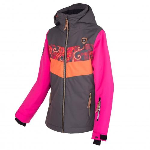 Chaqueta de snowboard Rehall Hester-R Girls Flowers Orange