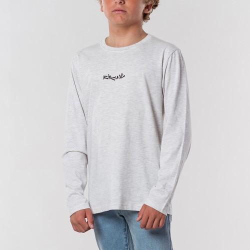 Camiseta Rip Curl Blazed & Tubed LS Tee Boy Snow Marle