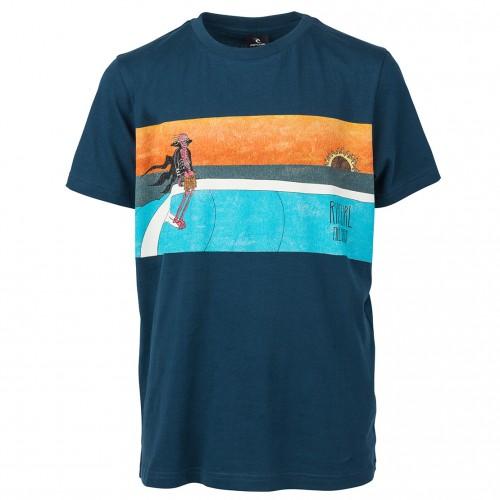Camiseta Rip Curl Dead Sled Boy Tee Navy