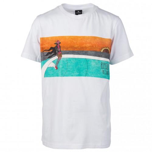 Camiseta Rip Curl Dead Sled Boy Tee Optical White